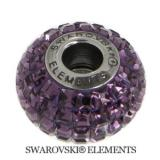 Korálek Swarovski Elements BeCharmed - AMETHYST