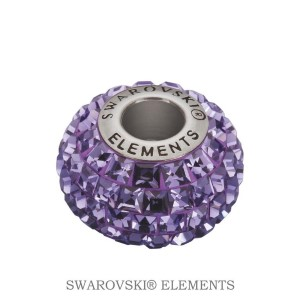 Korálek Swarovski Elements BeCharmed - TANZANITE