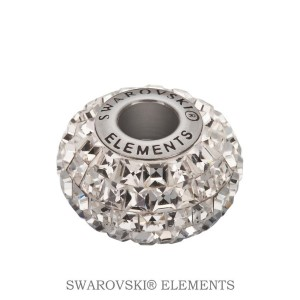 Korálek Swarovski Elements BeCharmed - CRYSTAL