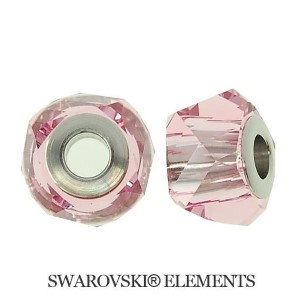 Korálek Swarovski Elements BeCharmed - LIGH ROSE STEEL