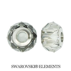 Korálek Swarovski Elements BeCharmed - CRYSTAL SATIN STEEL