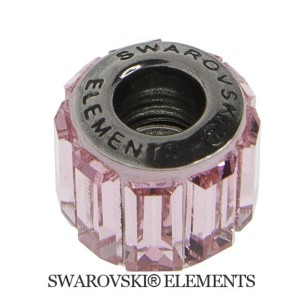 Korálek Swarovski Elements BeCharmed - Pavé LIGHT ROSE