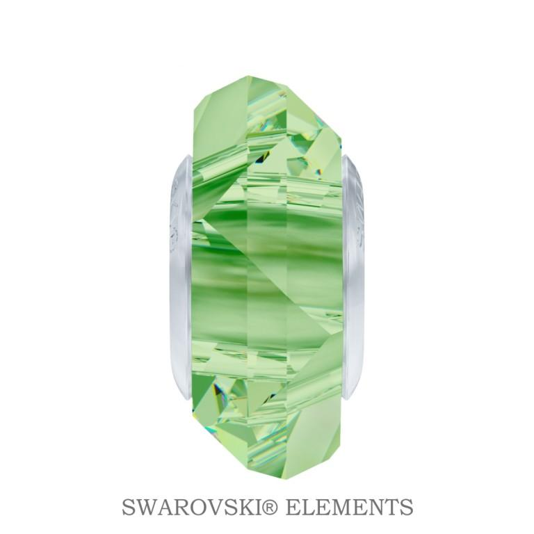 Korálek Swarovski Elements BeCharmed Fortune - Peridot