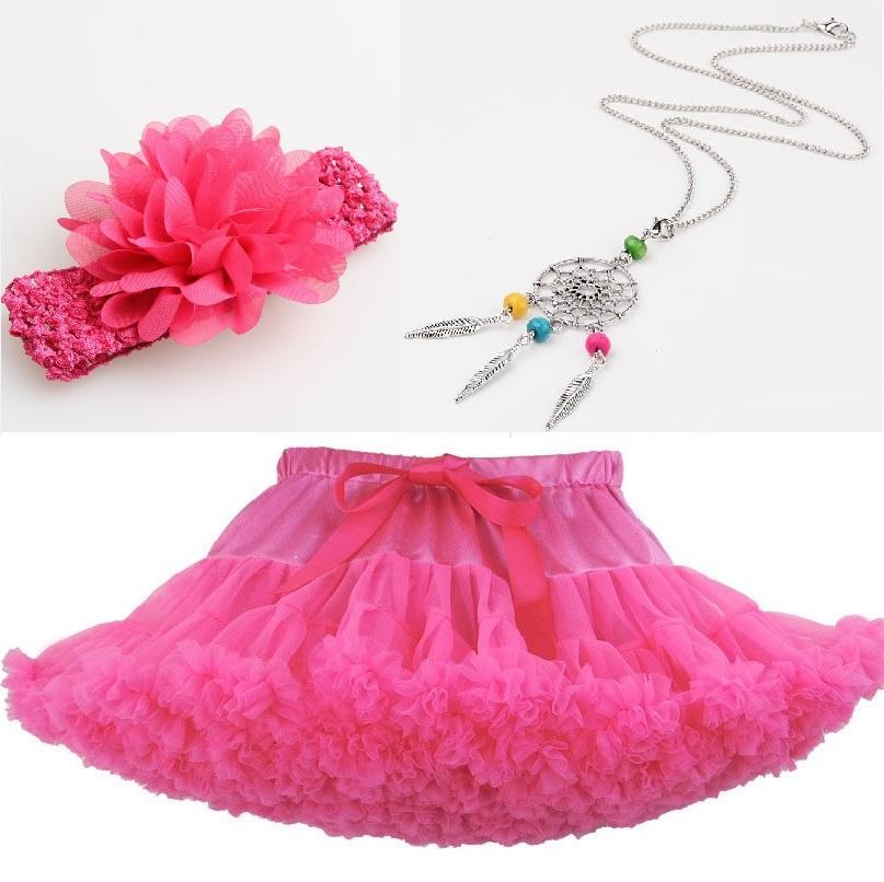 5c4cf09cb49 Sada dětská neon pink 2 - sukýnka s doplňky