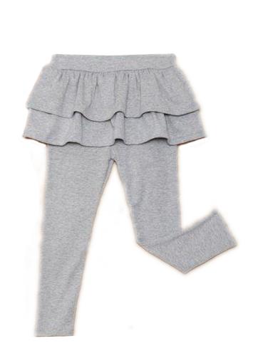 Dětské legíny se sukní šedé pro holčičky od 3 do 9 let Tvujdesign.cz 3c8b82e265