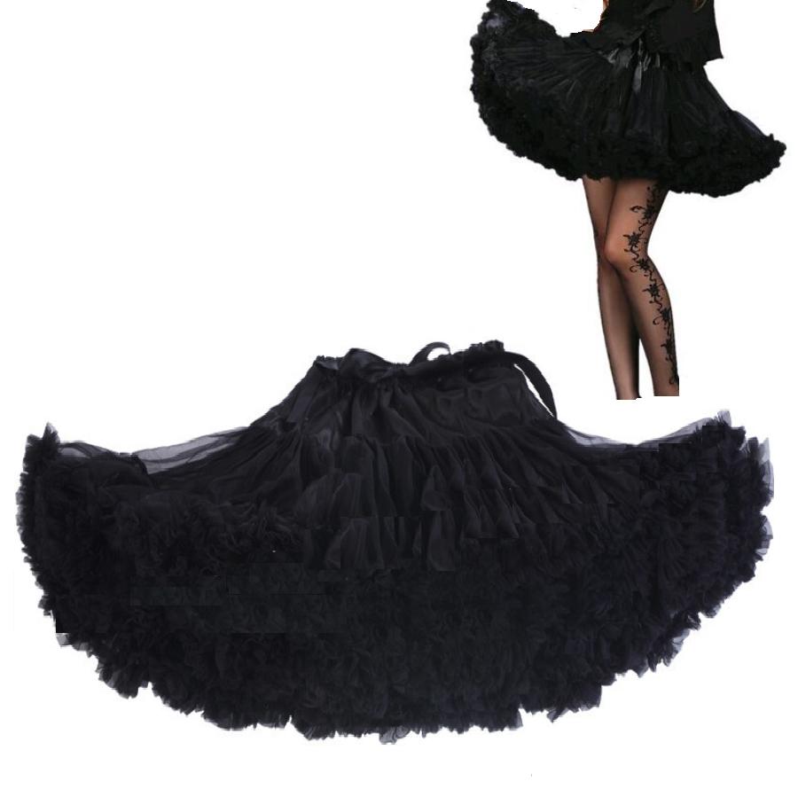 d75829e6233e 05 Sukně TUTU PETTI Extra objem pro 12-18 let dívky nebo dámská - černá