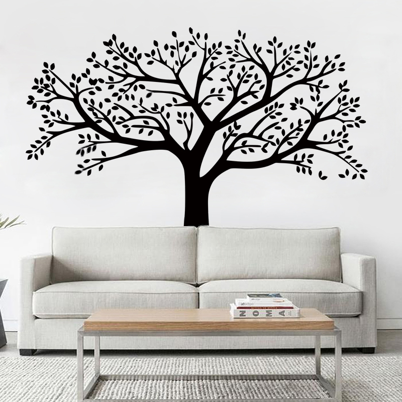 velk xxl ern strom samolepka na ze. Black Bedroom Furniture Sets. Home Design Ideas