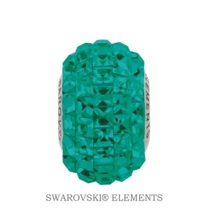 Korálek Swarovski Elements BeCharmed - EMERALD