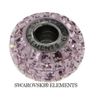 Korálek Swarovski Elements BeCharmed - LIGHT ROSE