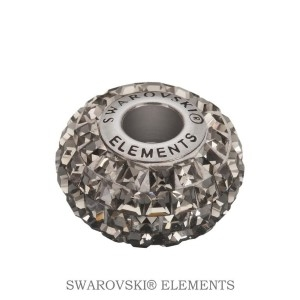 Korálek Swarovski Elements BeCharmed - BLACK DIAMOND