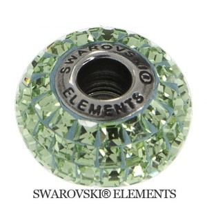 Korálek Swarovski Elements BeCharmed - PERIDOT