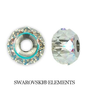Korálek Swarovski Elements BeCharmed - AB STEEL