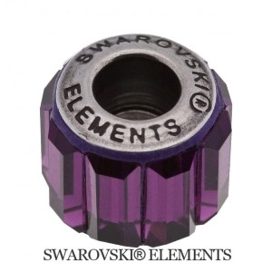 Korálek Swarovski Elements BeCharmed - Pavé AMETHYST