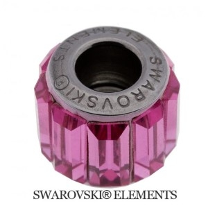 Korálek Swarovski Elements BeCharmed - Pavé ROSE