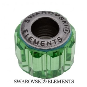 Korálek Swarovski Elements BeCharmed - Pavé PERIDOT