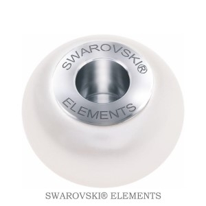 Korálek Swarovski Elements BeCharmed - Pearl CRYSTAL WHITE  STEEL