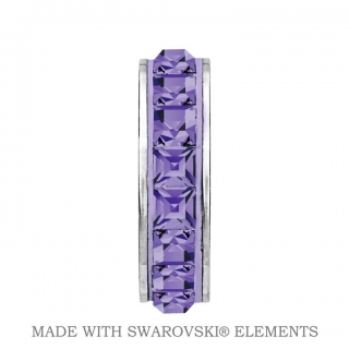 Korálek Stopper BeCharmed Swarovski Elements - Tanzanite