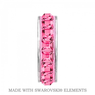 Korálek Stopper BeCharmed Swarovski Elements - Rose