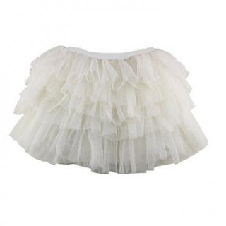 b2d0ed33a47c Dětská volánová tutu sukně tylová s kanýry bílá empty