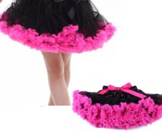 4e84f3ea2b9 Dětská sukně TUTU PETTI Extra objem pro 5-10 let - černá a fuchsie empty