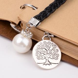 Záložka do knihy s přívěskem strom a bílá perla empty b84c0d74ed