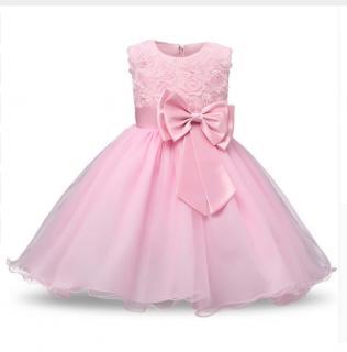 1b6cf18f3cd Šaty dětské luxusní slavnostní svatební růžové empty