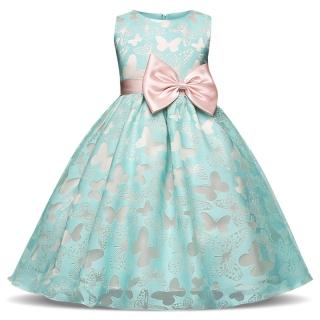 Dětské luxusní šaty slavnostní mátová zelená s motýlky empty f1a51b2868