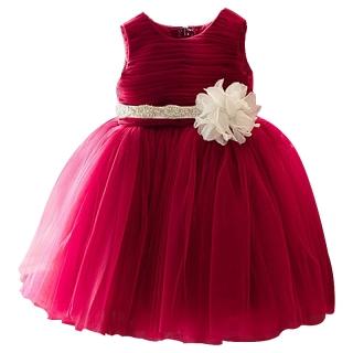 94e0bc231a83 Šaty dětské slavnostní červené karmín bílá kytka empty