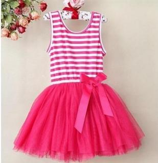 16fe22fd07b5 01 Dětské šaty tutu petti letní 6 vrstev - tmavě růžová empty