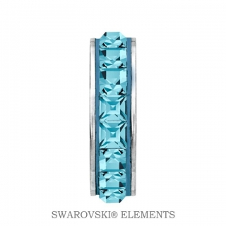 Korálek Stopper BeCharmed Swarovski Elements - Aquamarine